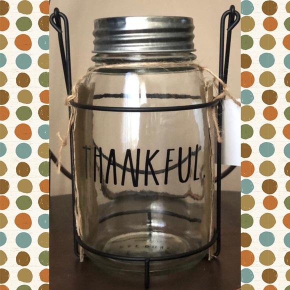 RAE DUNN  |  THANKFUL Mason Jar Lantern